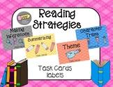 Reading Strategies Task Card Labels