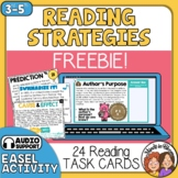 Reading Strategies Task Cards - FREE! Inference, Summarizing, Author's Purpose +