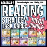 Reading Strategies Task Card Passages with Questions MEGA Bundle