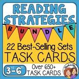 Reading Strategies Task Card Bundle  648 reading skills cards with Digital