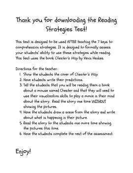 Reading Strategies Test