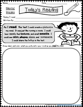 Reading Strategies  - Today's Reading Worksheets