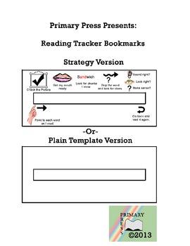 Reading Strategies Tracker Bookmark