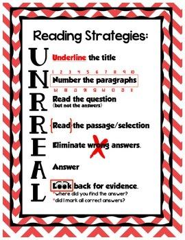 Reading Strategies UNRREAL - Red Chevron