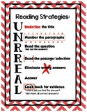 Reading Strategies UNRREAL - Red Chevron
