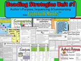 Reading Strategies Unit 1 - Author's Purpose, Sequencing,