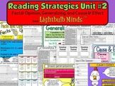 Reading Strategies Unit 2 - Fact & Opinion, Generalizing, and Cause & Effect
