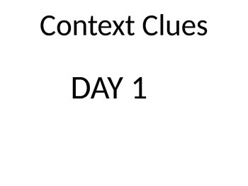 Reading Strategies - Using Context Clues