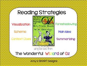 Reading Strategies Using Text from Wonderful Wizard of Oz SMARTBoard