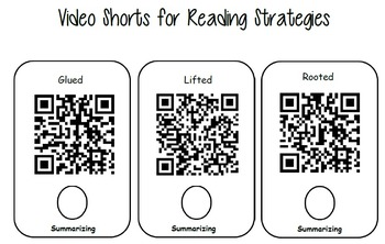 Reading Strategies Video Shorts and Worksheets