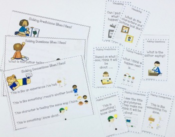 Reading Strategies Visual Cues Cards and Posters