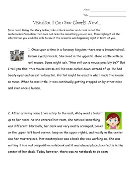Reading Strategies - Visualize