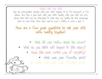 Reading Strategies With Your Child
