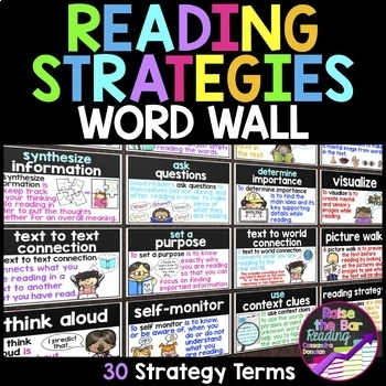 Reading Strategies Word Wall ~ 28 Reading Strategy Posters or ...