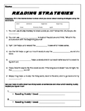 Reading Strategies Worksheet (Animal Buddies)