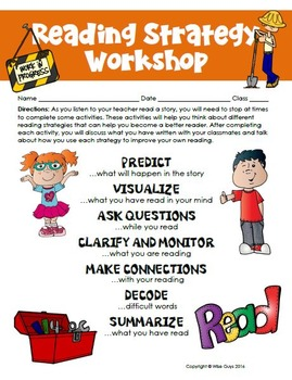 Reading Strategies Workshop Task Cards and Tips