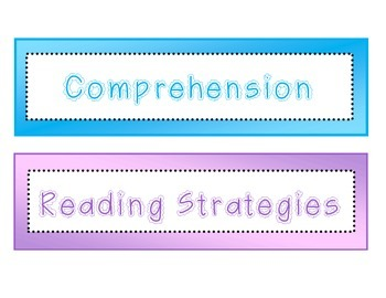 FREE Reading Strategies and Comprehension Printables