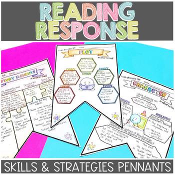 Reading Strategies and Skills Pennants