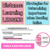 Reading Strategies for Determining Importance for Distance