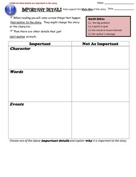 Reading Strategies for Fiction - Graphic Organizers and Posters