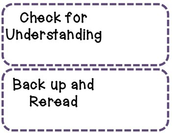 Reading Strategies for Growing Readers - Student Driven Strategy Cards