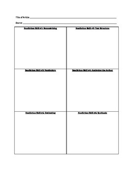Reading Strategies for Informational Text