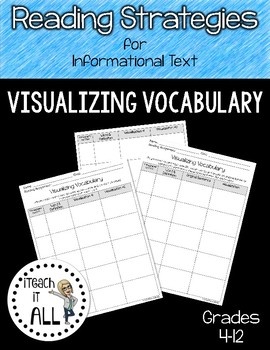 Reading Strategies for Informational Text Visualizing Vocabulary