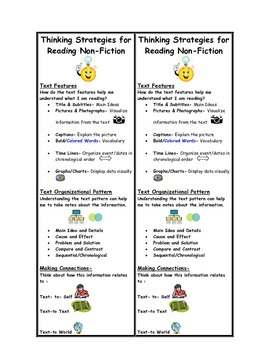 Reading Strategies for Non-Fiction Bookmark