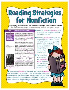 Reading Strategies for Nonfiction Poster