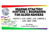 Reading Strategy Posters & Bookmarks for Older Readers - U