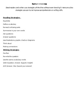 Reading Strategies in Content Areas