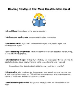 Reading Strategies that Make Great Readers Great