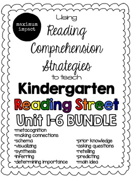 Reading Comprehension Strategies to Teach Kindergarten Reading Street BUNDLE