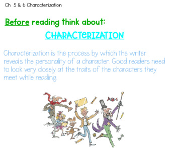 Reading Strategies using Charlie and the Chocolate Factory Unit