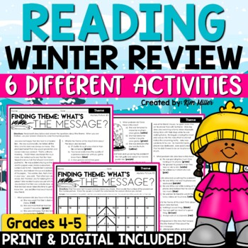 Reading Comprehension Strategies Winter Mystery Pictures | Independent Work