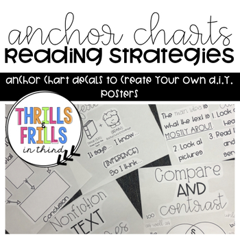 Reading Strategy Anchor Chart Diy Instructionsdecals To Make Your
