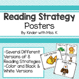 Reading Strategy Animal Posters