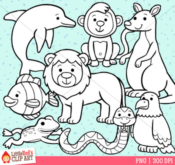 Reading Strategy Animals Clip Art