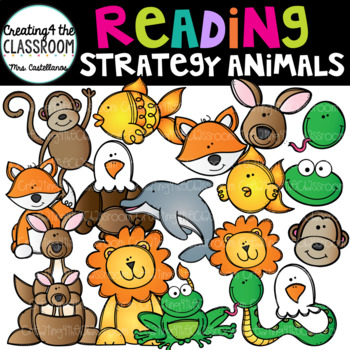 Reading Strategy Animals Clip Art { Guided Reading Animals}