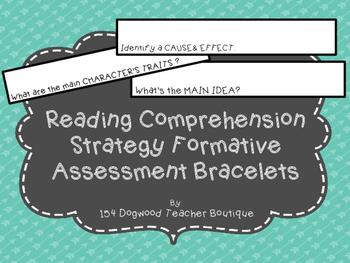 Reading Strategy Assessment Bracelets