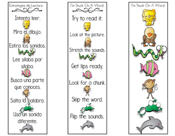 Reading Strategy Bilingual Bookmark