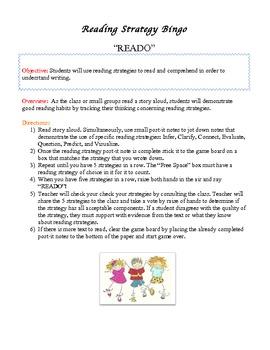 Reading Strategy Bingo