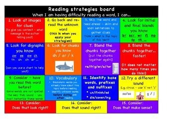 Reading Strategy Board (Decoding) pdf American Version!