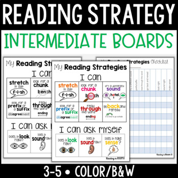 Reading Strategy Boards {Intermediate}