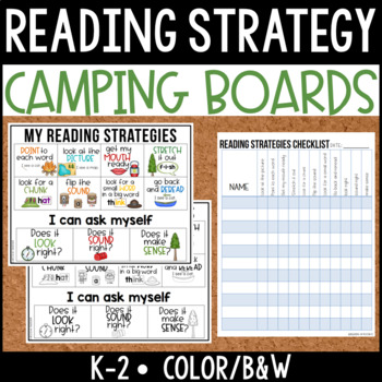 Reading Strategy Boards {Primary} Camping Theme