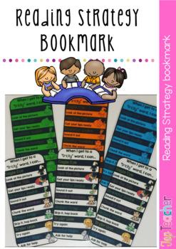 Reading Strategy Bookmark/Deskcard