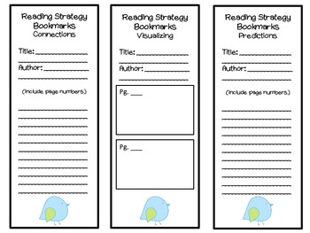 Reading Strategy Bookmarks