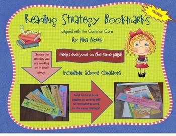 Reading Strategy Bookmarks - Freebie!!