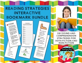 Reading Strategy Interactive Bookmarks {Growing Bundle}