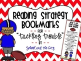 """Reading Strategy Bookmarks - """"Tackling Trouble"""" Football Theme"""